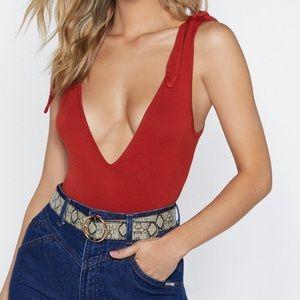 Nwt red bodysuit